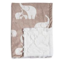 Baby Laundry® Minky Elephant/Tile Blanket in Linen