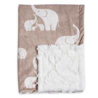 9ab5870fdf Baby Laundry® Minky Elephant Tile Blanket in Linen