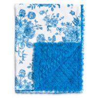 Baby Laundry® Minky Floral/Tile Blanket in French Blue