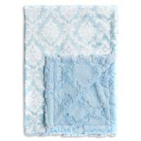 Baby Laundry® Minky Damask/Tile Blanket in Crystal Blue