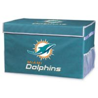 NFL Miami Dolphins Large Collapsible Storage Foot Locker