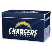 NFL Los Angeles Chargers Large Collapsible Storage Foot Locker
