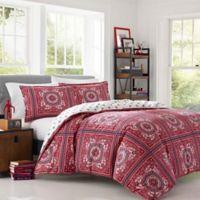 Poppy & Fritz Reece Bandana Full/Queen Comforter Set in Red