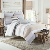 KAS Seneca Full/Queen Duvet Cover in Taupe