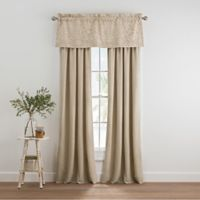 Coastal Life Melbourne 84-Inch Rod Pocket Window Curtain Panel Pair