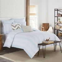 KAS Clifton King Duvet Cover in Aqua