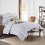 KAS Clifton Full/Queen Duvet Cover in Grey