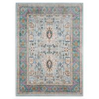 Momeni Rustic Romance 2' x 3' Tribal Loomed Accent Rug in Teal