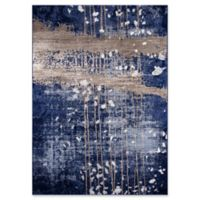 """Momeni Monterey Abstract 3'3"""" x 5' Area Rug in Blue"""