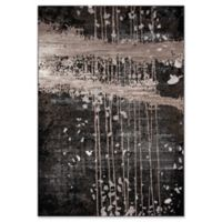 """Momeni Monterey Abstract 3'3"""" x 5' Area Rug in Charcoal"""