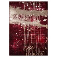 """Momeni Monterey Abstract 3'3"""" x 5' Area Rug in Red"""