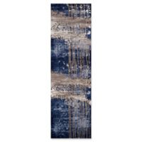 "Momeni Monterey Abstract 2'3"" x 7'6"" Runner in Blue"