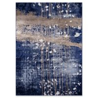 """Momeni Monterey Abstract 7'6""""' x 9'6"""" Area Rug in Blue"""