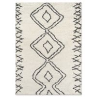 Momeni Maya Diamond 2' x 3' Shag Accent Rug in Ivory