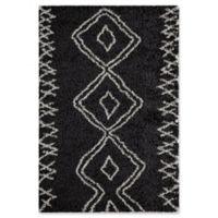 Momeni Maya Diamond 2' x 3' Shag Accent Rug in Black