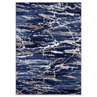 Momeni Monterey Camouflage 7'6 x 9'6 Area Rug in Blue