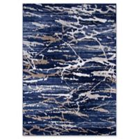 Momeni Monterey Camouflage 8'6 x 11'6 Area Rug in Blue
