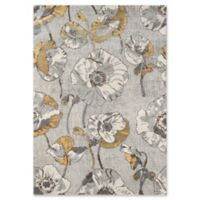 Momeni Luxe Allover Floral 3'11 x 5'7 Area Rug in Grey