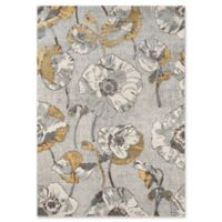 Momeni Luxe Allover Floral 7'10 x 9'10 Area Rug in Grey