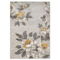 Momeni Luxe Floral 3'11 x 5'7 Area Rug in Grey