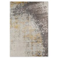 Momeni Luxe Abstract Floral 3'11 x 5'7 Area Rug in Gold