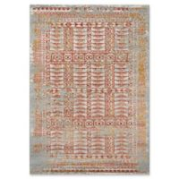 Momeni Luxe Abstract 3'11 x 5'7 Area Rug in Rust