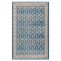 Momeni Kerman Vintage-Inspired 7'10 x 9'10 Area Rug in Blue