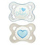 MAM Love & Affection Age 0-6 Months I Love Daddy Pacifier in Blue (2-Pack)