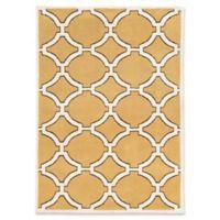 Linon Home Geometric Lattice 5' x 7' Area Rug in Gold