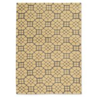 Linon Home Geo 5' x 7' Hand Tufted Area Rug in Grey