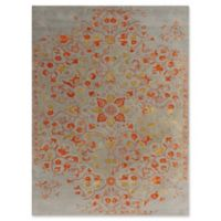 Amer Rugs Artist Modern Hand-Tufted 7'6 x 9'6 Rug in Silver/Orange