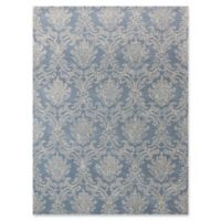 Amer Ascent Damask 8' x 11' Hand Tufted Area Rug in Modern Blue