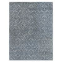 Amer Ascent Damask 7'6 x 9'6 Area Rug in White