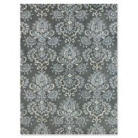 Amer Ascent Modern Damask 8' x 11' Hand Tufted Area Rug in Carbon Grey