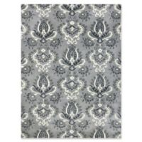 Amer Ascent Mixed Medallion 2' x 3' Hand Tufted Accent Rug in Silver