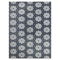 Amer Ascent Mixed Medallion 7'6 x 9'6 Hand Tufted Area Rug in Silver