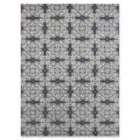 """Amer Ascent Square Medallion 7'6"""" x 9'6"""" Hand Tufted Area Rug Silver"""