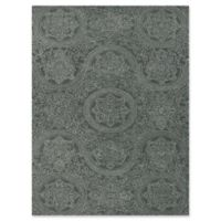 Amer Ascent Curved Medallion 5' x 8' Hand Tufted Area Rug in Grey