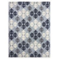 Amer Ascent Diamond Medallion 5' x 8' Hand Tufted Area Rug in Pearl