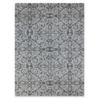 """Amer Ascent Large Damask 7'6"""" x 9'6"""" Hand Tufted Area Rug in Grey"""
