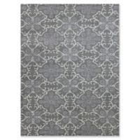 Amer Ascent Large Medallion 7'6 x 9'6 Hand Tufted Area Rug in Dove Grey