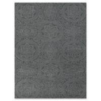 Amer Ascent Round Medallion 5' x 8' Hand Tufted Accent Rug in Silver/Blue