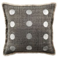 Safavieh Metallic Dots Square Throw Pillow in Charcoal