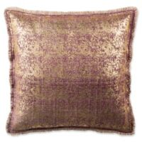 Safavieh Metallic Sponge Square Throw Pillow in Raspberry
