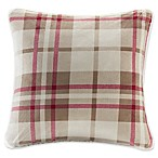 Woolrich® Plush to Berber Square Throw Pillow in Khaki/Red