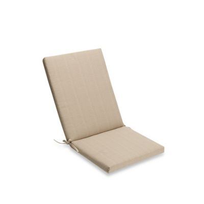 Medford Folding Wicker Chair Cushion in Flax  sc 1 st  Bed Bath u0026 Beyond & Buy Outdoor Patio Chair Cushions | Bed Bath u0026 Beyond