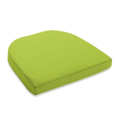 Medford Solid Outdoor Wicker Stack Chair Cushion In Lime