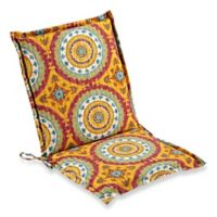 Print Indoor/Outdoor Folding Sling Chair Cushion in Sunset Red