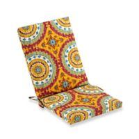 Print Indoor/Outdoor Folding Wicker Chair Cushion in Sunset Red