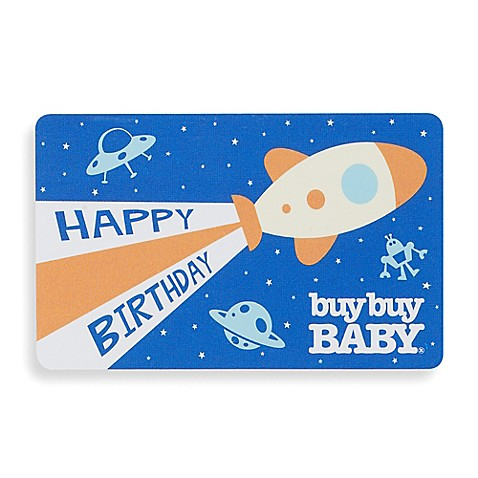 Happy Birthday Rocket Ship Gift Card
